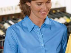 Women, Button Down Shirt,Embroidery, Screen Printing, Pensacola - Logo Masters International